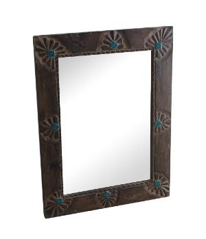 Teal Tile Mirror