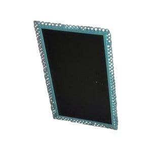 Turquoise Framed Chalkboard