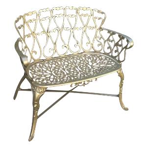 Gold Garden Bench