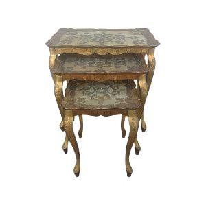 Gold Florentine Nesting Tables