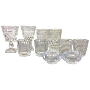 Textured Clear Glass Votives
