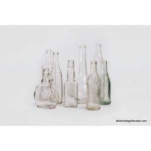 Clear Glass Vintage Bottles