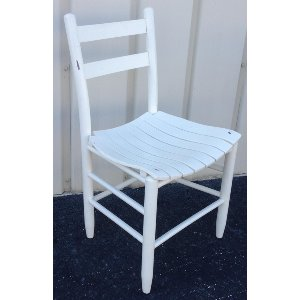 White Painted Farm Chairs