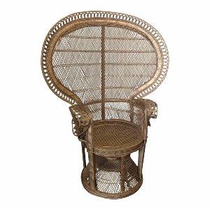 Gold Queen Peacock Chair