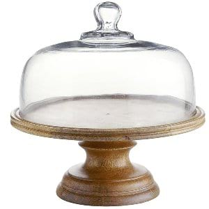 Wood Pedestal Cake Stand