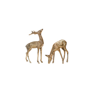 Small Brass Deer (set of two)
