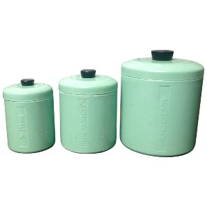 Mint Kitchen Canister (Set of 3)