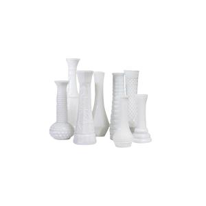 Milk Glass Bud Vases (Assorted Styles)