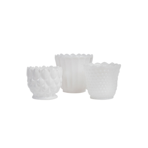 Milk Glass Planters - Assorted Sizes and Styles