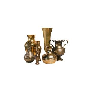 Mismatched Brass Vessels