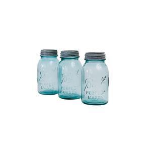 Mason Jars-Aqua Glass
