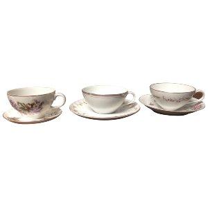 Mismatched Tea Cups & Saucers