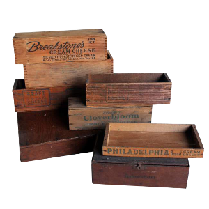 Mismatched Small Timber Boxes