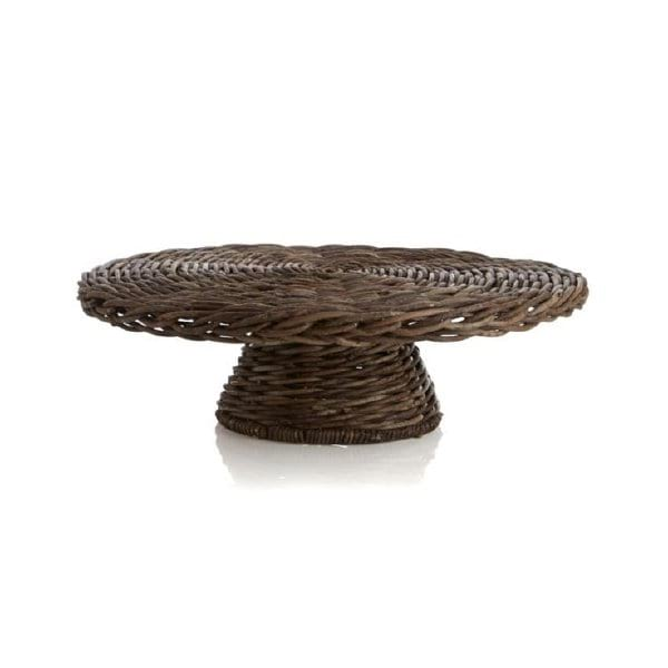Woven Pedestal Cake Stand